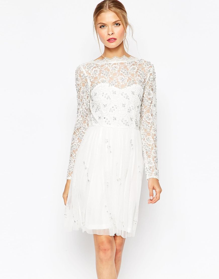Image 1 of Frock and Frill Lace Skater Dress | short dresses ...