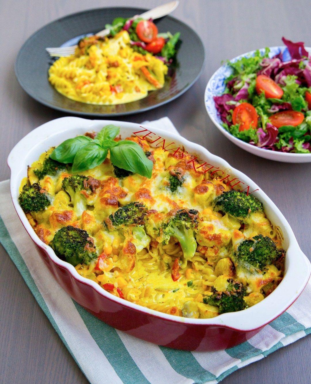 Pastagratang Med Kyckling Och Curry Zeinas Kitchen Curry Matlagning Recept Middag