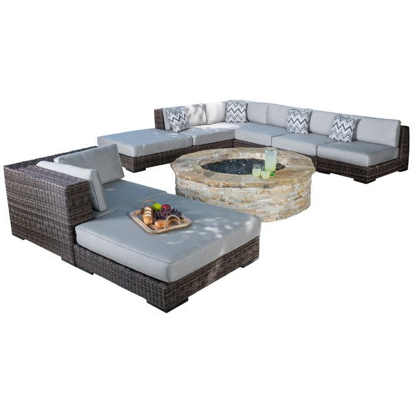 Home Loft Concepts Alena 8 Piece Seating Group Outdoor Sofa Sets Outdoor Dining Furniture Seating Groups