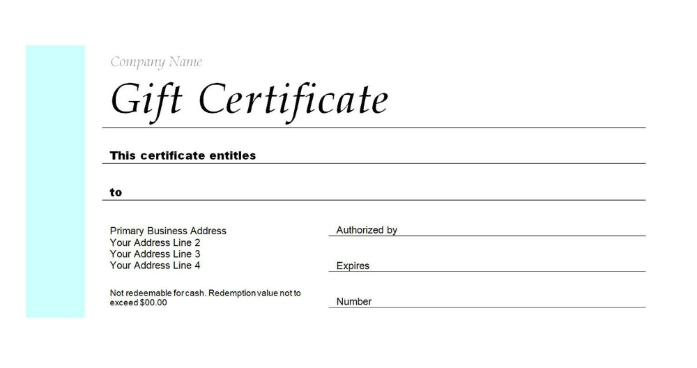Free Gift Certificate Templates You Can Customize Throughout Mock Certifica Free Gift Certificate Template Gift Certificate Template Printable Gift Certificate