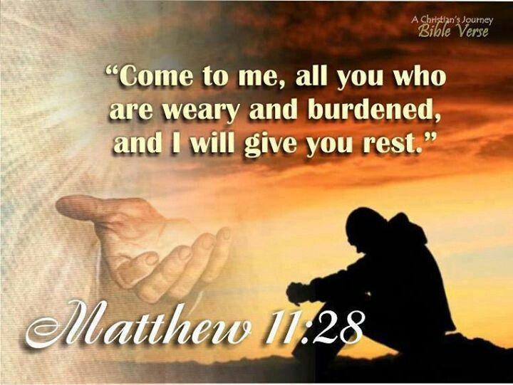 Come unto Me [Jesus]....