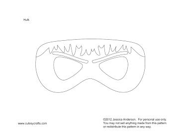 Vista Previa En Miniatura De Un Elemento De Drive Superhero Masks Hulk Mask Felt Mask