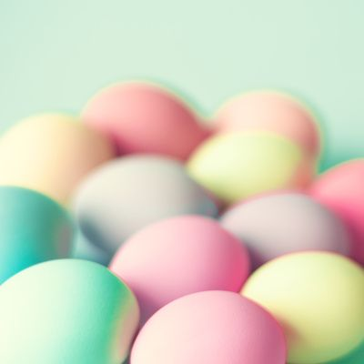 Colored Laid Eggs Art Print