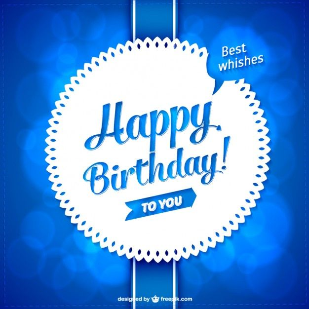 Vector lace style birthday card Free Vector Birthday – Vector Birthday Card