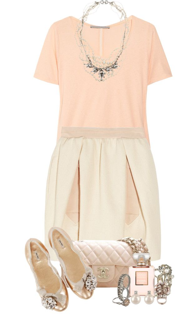 """""""Cream Puffs and Pearls For The Ballerina"""" by aerirei ❤ liked on Polyvore"""