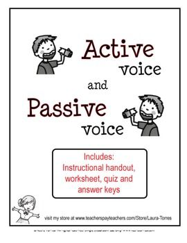 Worksheets Active And Passive Voice Worksheets With Answers Pdf 1000 images about passive voice on pinterest student centered resources action verbs and 5th grade writing