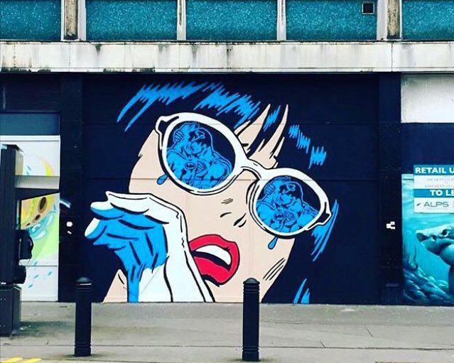 New Street Art by Richard Simmons in Croydon London #streetart #graffiti #art #mural https://t.co/0a4kwFP0cz