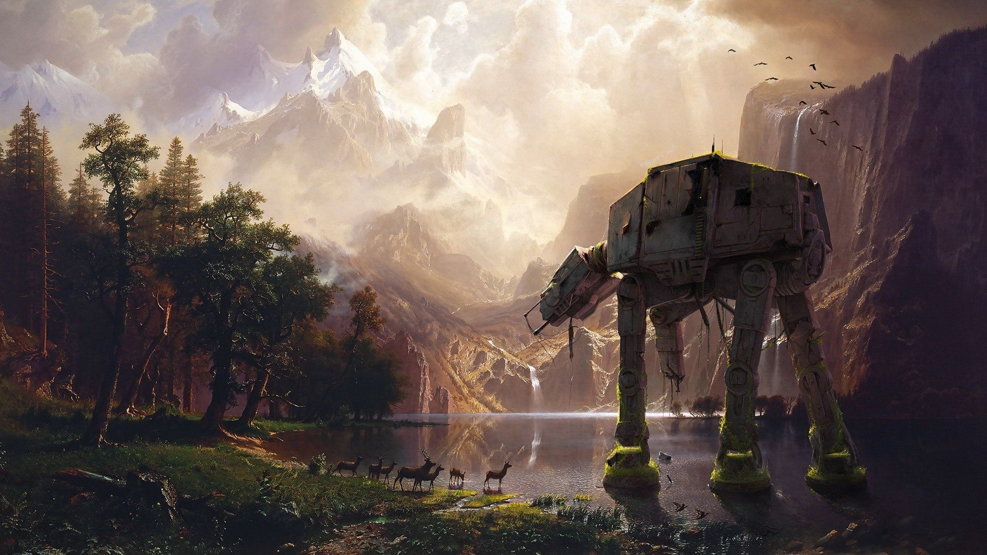 Can Anyone Tell Me If This Image Is Anywhere In Canon I Like The Image A Lot But I Can T Figure O Star Wars Background Star Wars Wallpaper Landscape Wallpaper