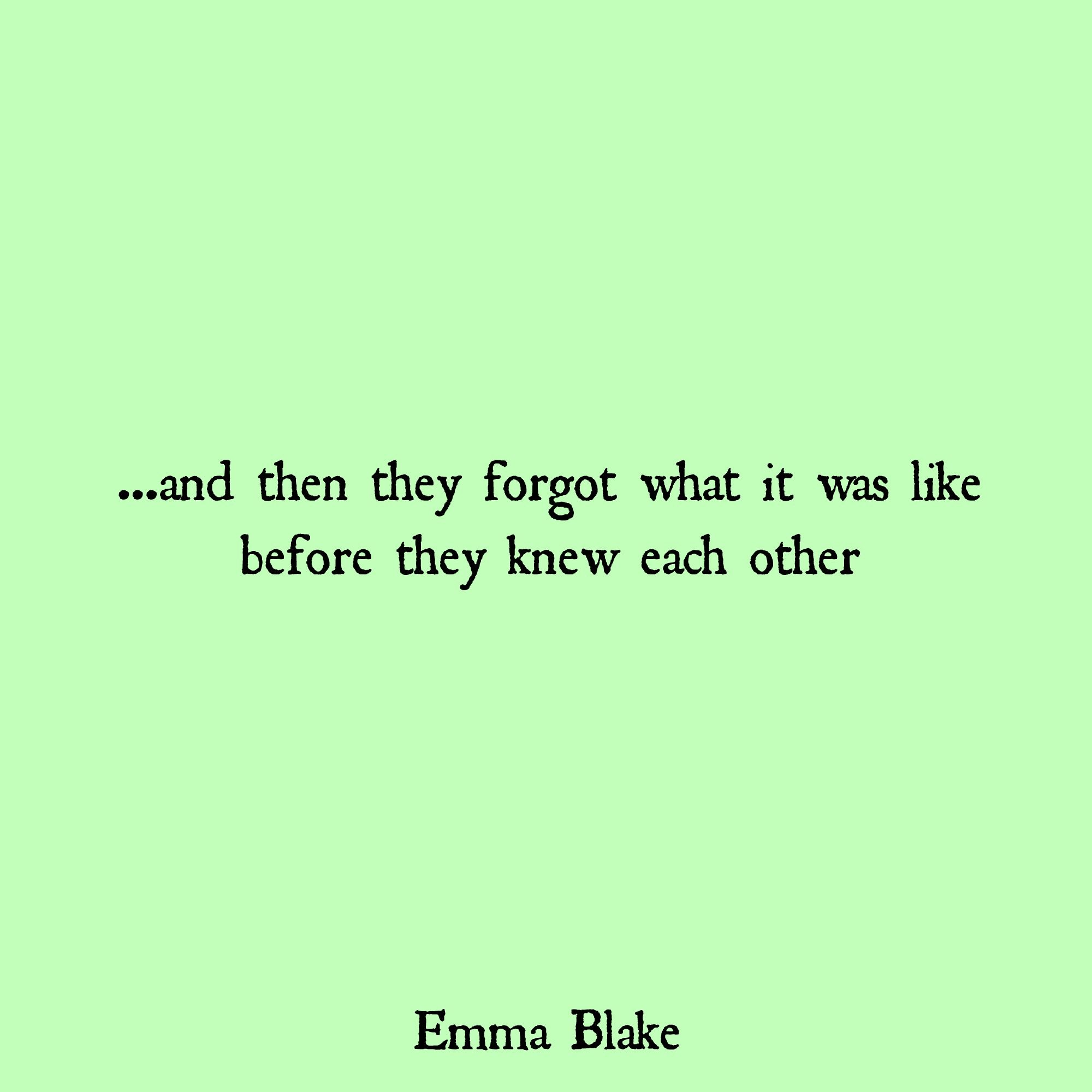 Emma Blake quote falling in love
