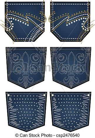 stone embroidery for back pocket , csp2476540