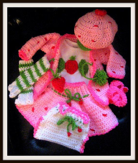 Strawberry Shortcake Crochet Out fit Pattern by crochetknitnstitch ...