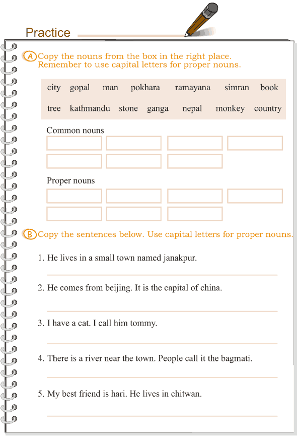 Grade 3 Grammar Lesson 1 Nouns Common And Proper Common And Proper Nouns Proper Nouns Worksheet Nouns Worksheet