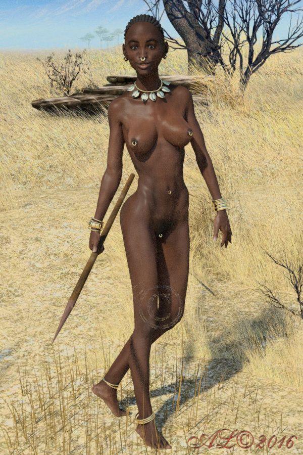 nude girls African