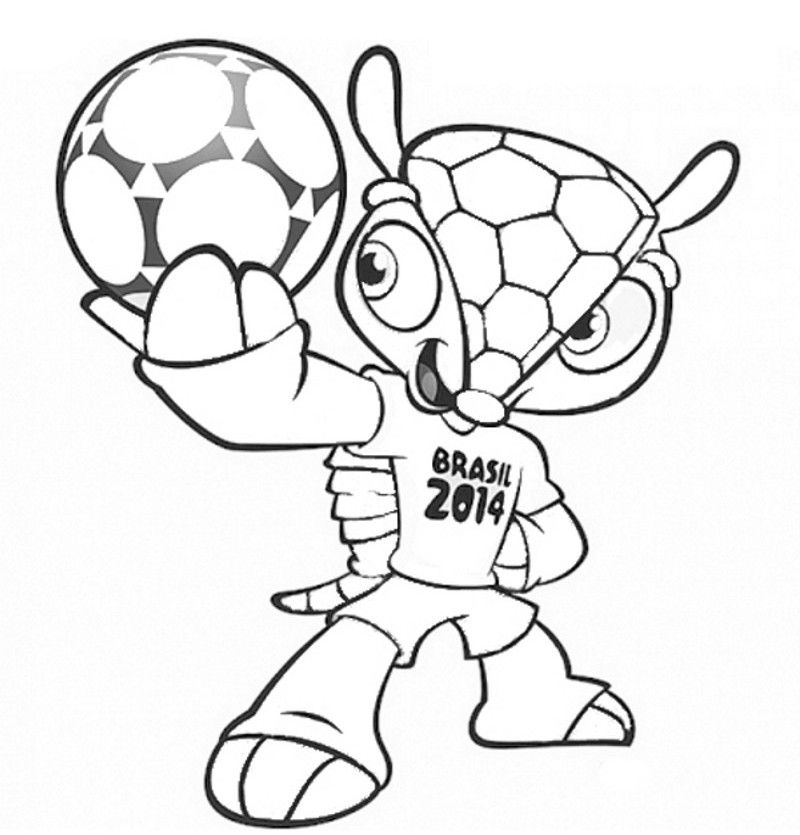 d578001223293 FIFA World Cup Brazil 2014 – Fuleco – Tatu Bola coloring pages ...