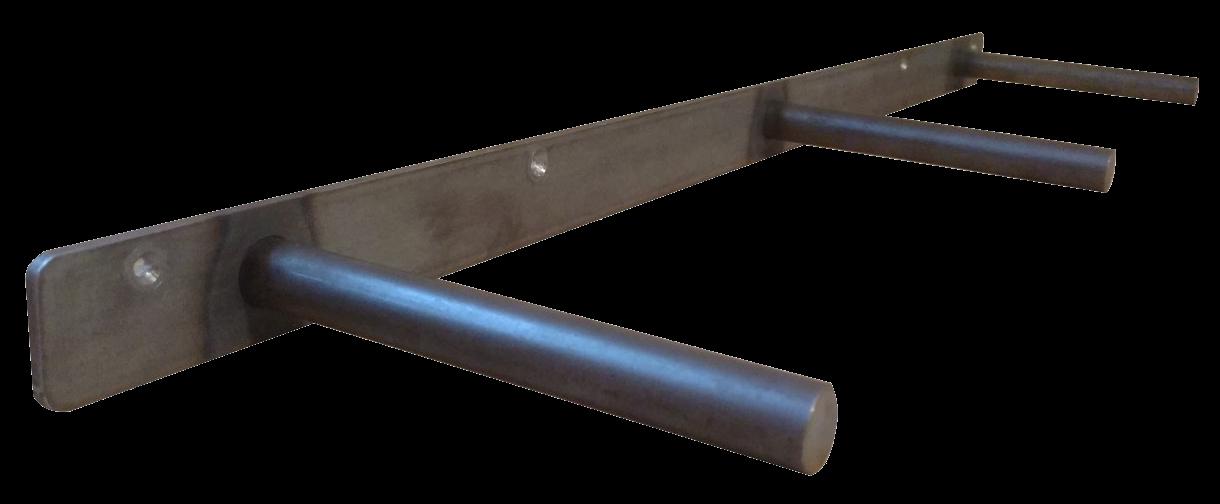 Solid Steel 24 Floating Shelf Bracket Rustproof Finished With Black Powder Coating With 6 Deep Rod Floating Shelf Brackets Shelf Brackets Floating Shelves