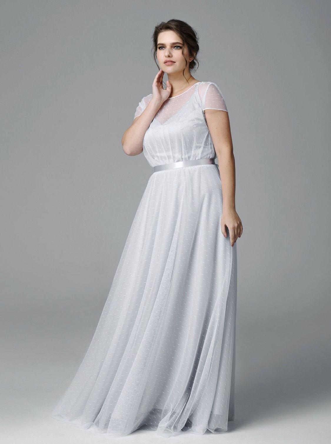 Plus Size Hochzeitskleid, Farbe Tüll Brautkleid, Brautkleid