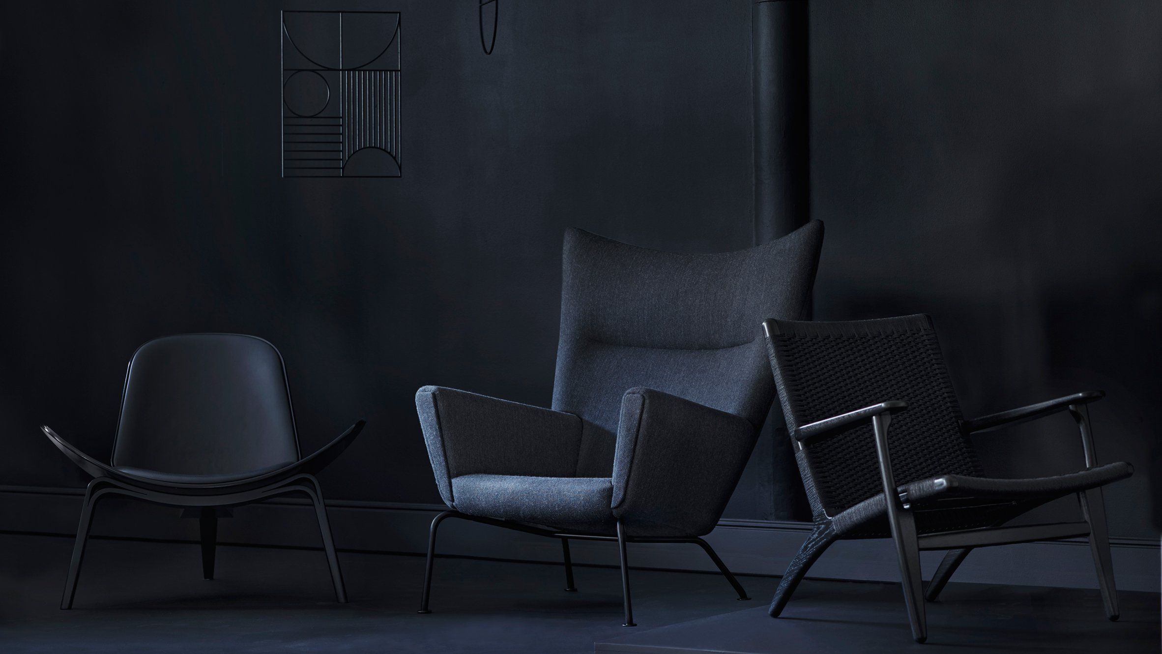 Wing chair and Oculus chair