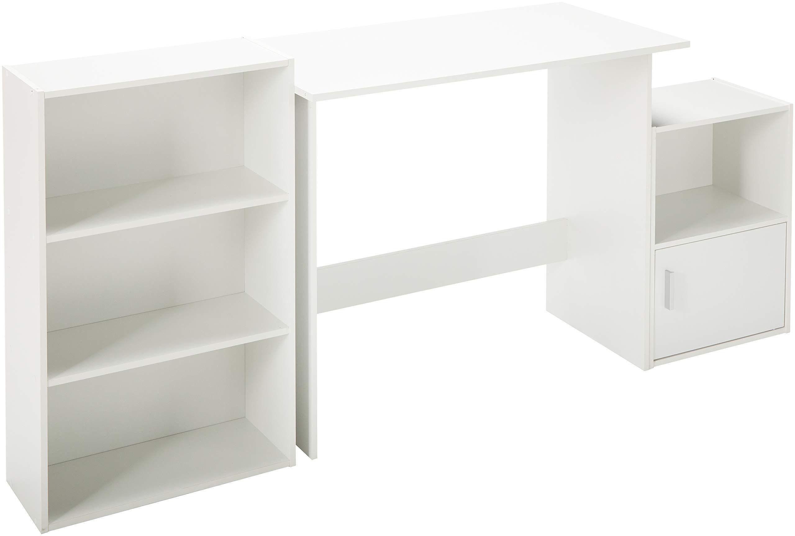 Target Marketing Systems 3 Piece Soho Study Set With 1 Writing Desk 1 3 Shelf Bookcase And 1 Storage Cube White Mor In 2020 Bookcase Cube Storage 3 Shelf Bookcase