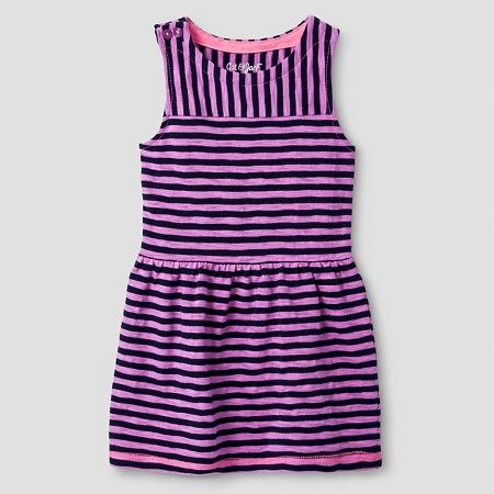 Target Baby Girl Clothes Baby Girls' Sleeveless Striped Dress Purple  Cat And Jack™  Target