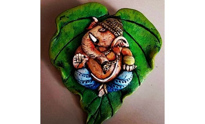 Make A Beautiful Ganesha Wall Hanging Using Shilpkar And Acrylic ColoursFor More DIY Keep Yourself Updated On Hobbyideasin