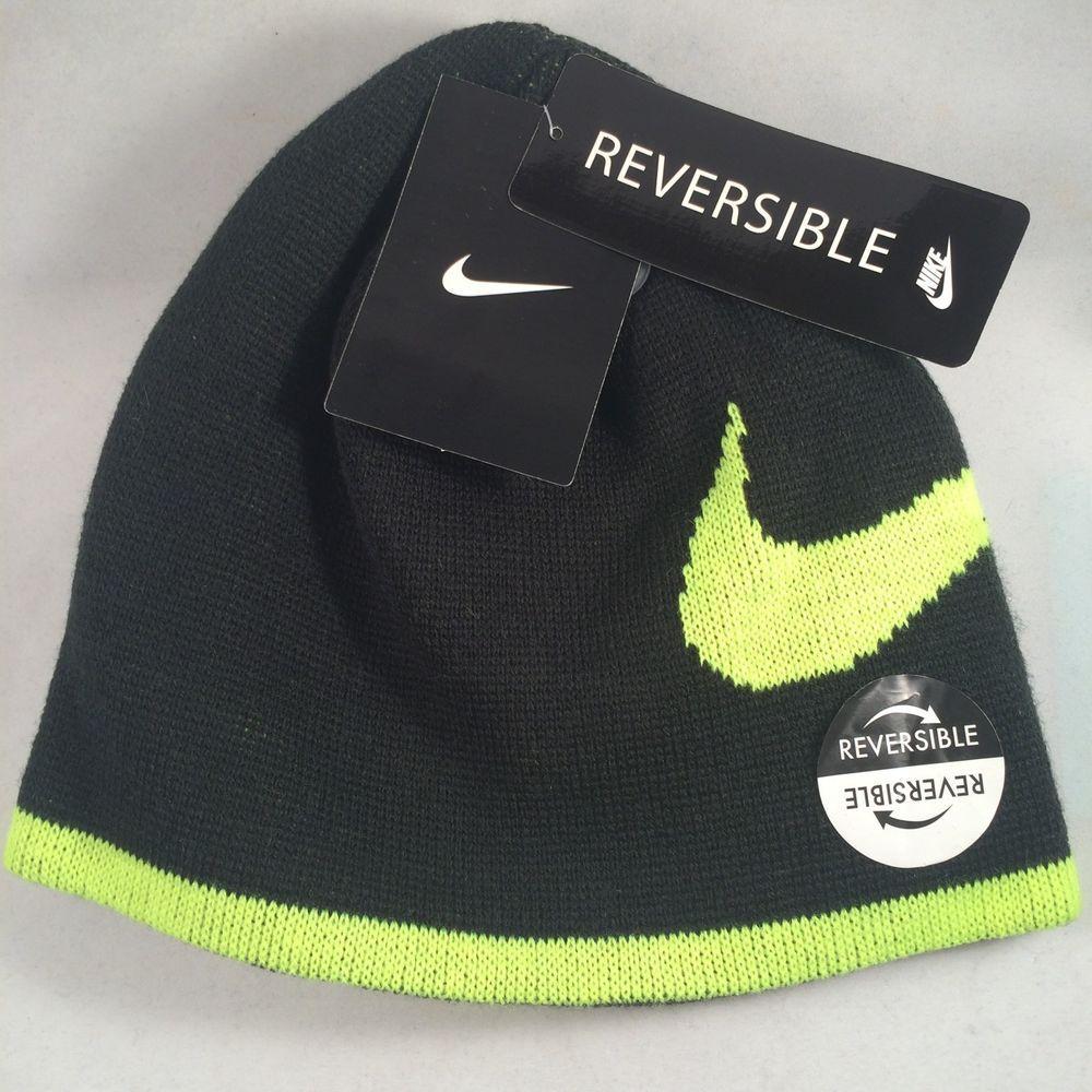c18960f81d73 Nike Beanie Lid Reversible Boys Kids Youth Cap Hat