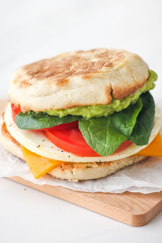 Toaster Oven Breakfast Sandwich Recipe In 2020 Easy Breakfast Sandwich Diy Food Recipes Easy Healthy Meal Prep