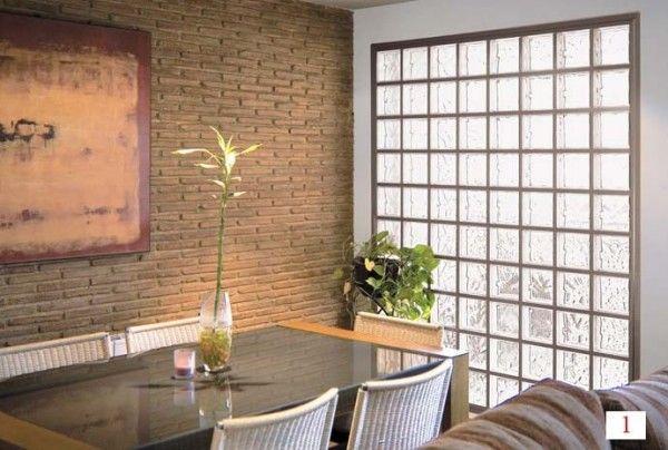 Las paredes con ladrillos de vidrio son un elemento - Como colocar ladrillos de vidrio ...