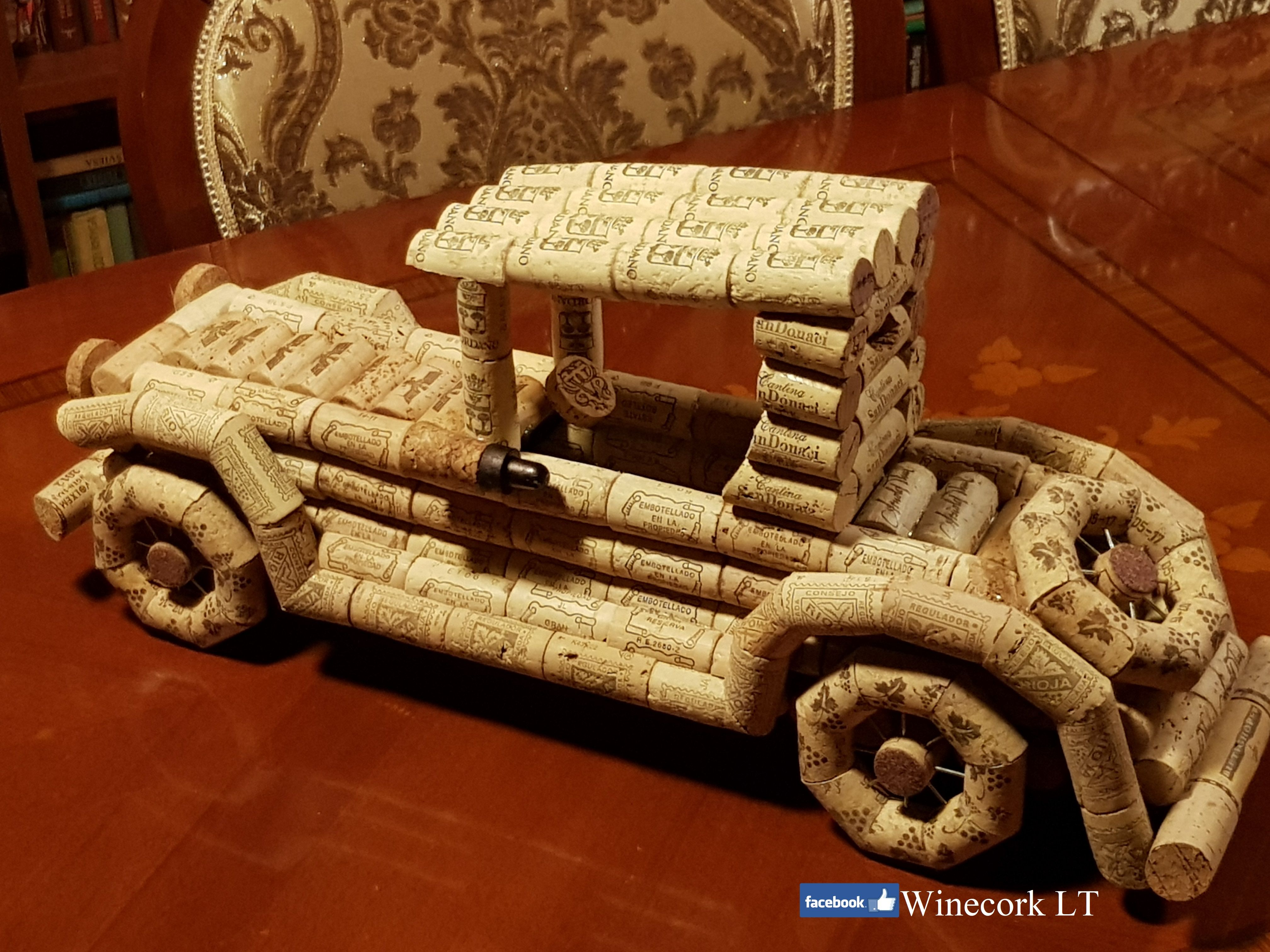 I made it 😉😉😉 Wine cork gifts, Retro cars, Wooden toy car