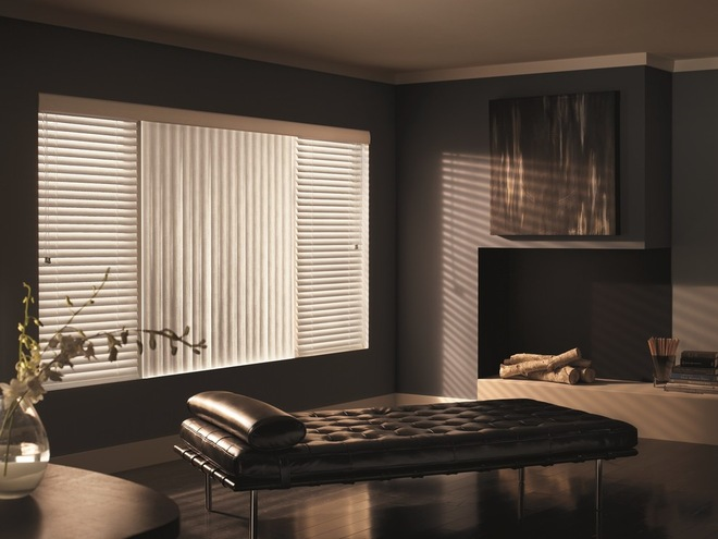 Combination Of Horizontal Amp Vertical Blinds For A Unique