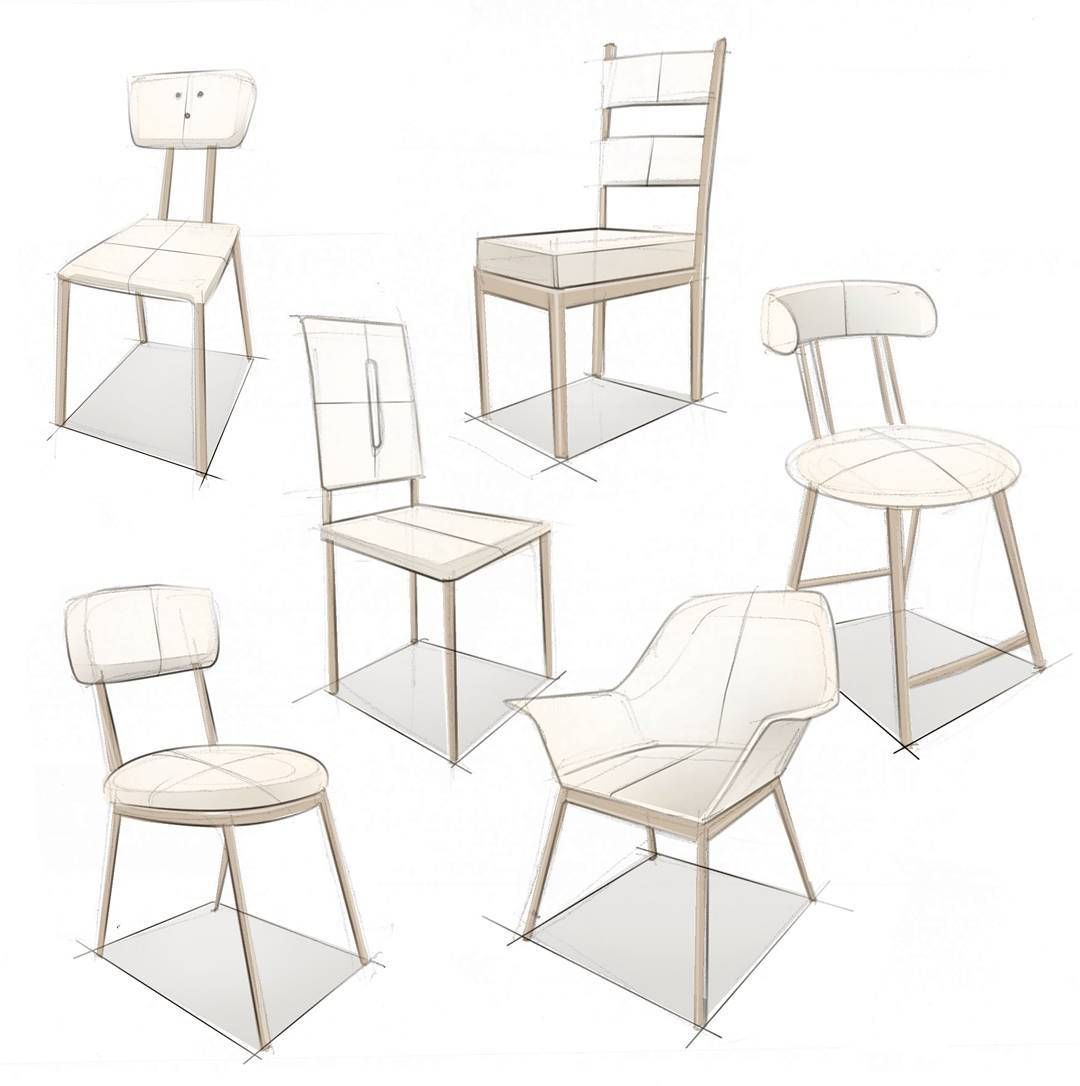 Thanks For 7000 Followers Here Is The Second Part Of My Chair Sketch Cluster By Mxrxvs Chairsk Furniture Design Sketches Drawing Furniture Furniture Sketch