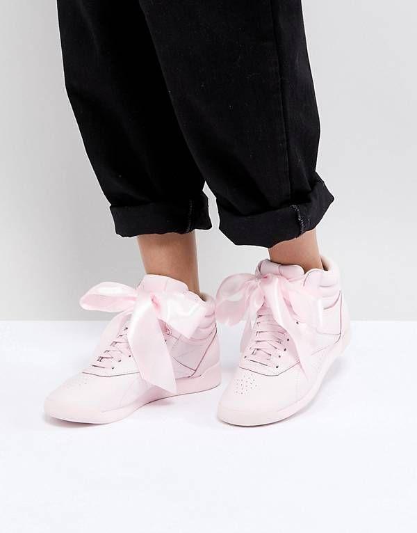 Freestyle Hi Satin Bow - Sneaker für Damen / weiß Reebok z9W8udRoXV