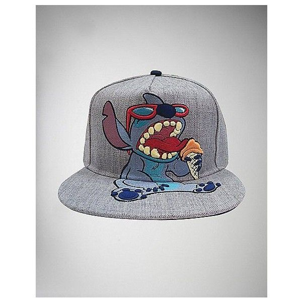 9f6483e770c Disney Floral Vis Snapback Hat ❤ liked on Polyvore featuring accessories