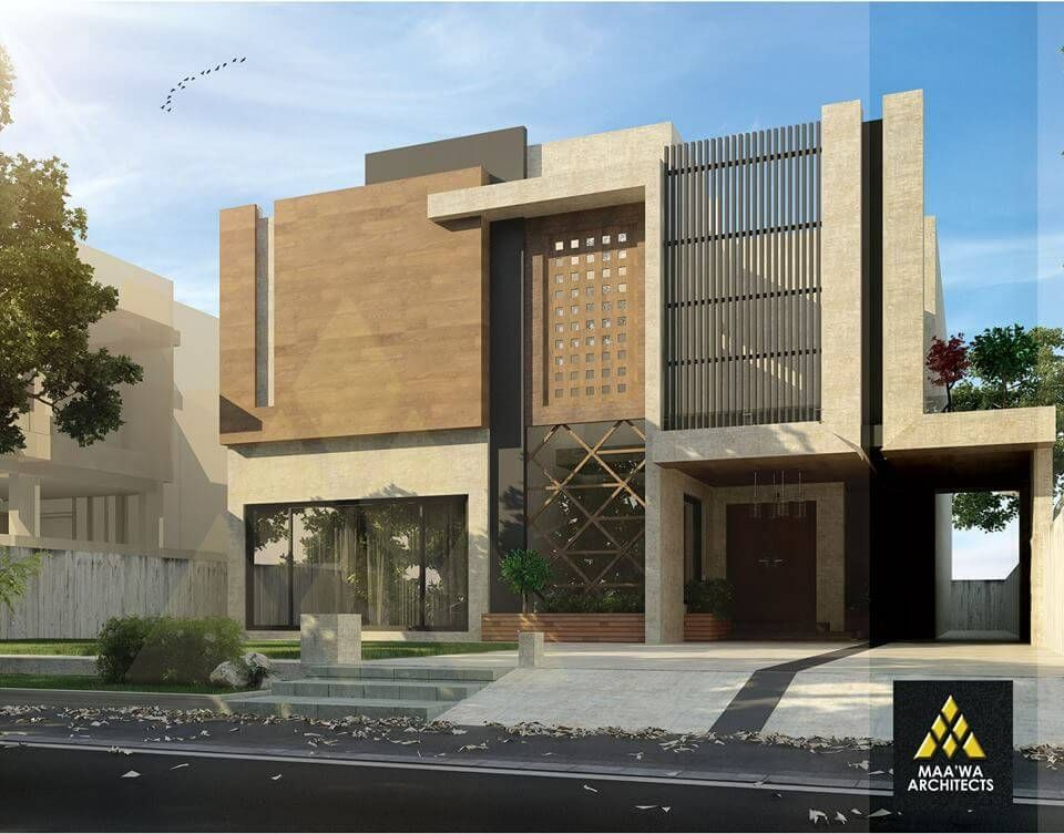 1 kanal house contemporary architecture home designs 3d front elevation maawa architects pakistan 3
