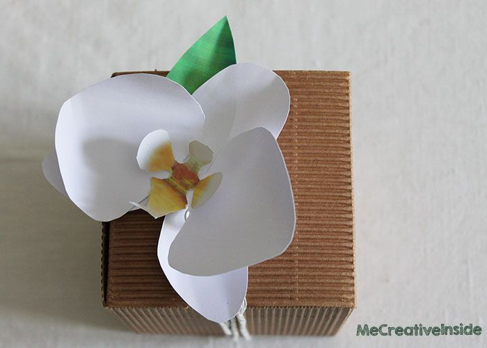 tutorial diy orchidea di carta
