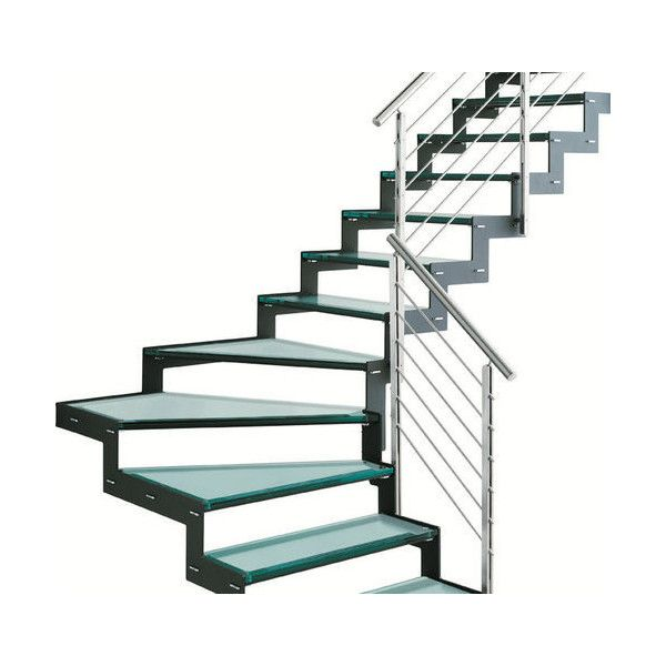 Best Quarter Turn Staircase With A Lateral Stringer Metal 400 x 300