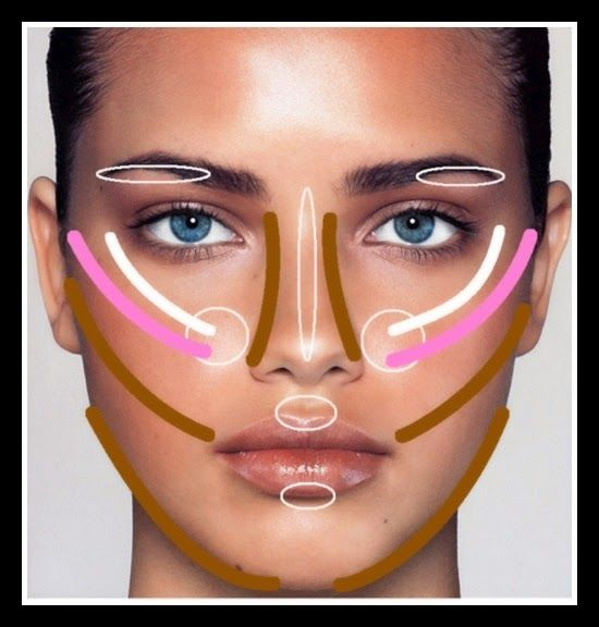 Contouring Diagram Make Up Pinterest Diagram Contours And Brows