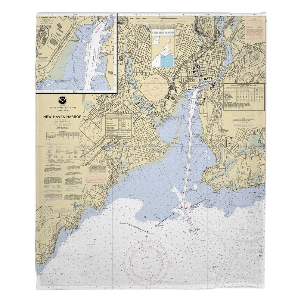 Ct New Haven Harbor Ct Nautical Chart Blanket Nautical Chart Travel Map Pins Navigation Chart