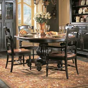 Hooker Furniture Indigo Creek Round Dining Table W Leaf