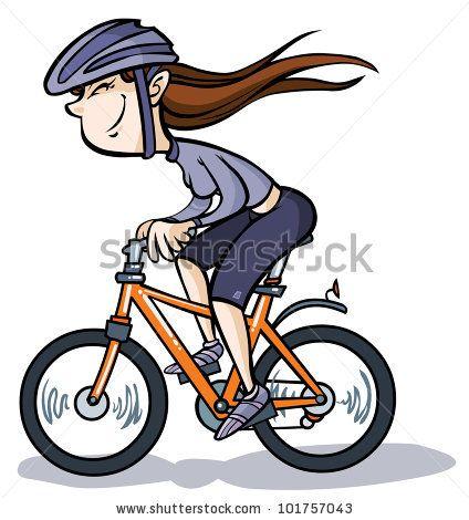 cartoon bikes pictures | Vector Download » Cartoon Girl on Bike ...