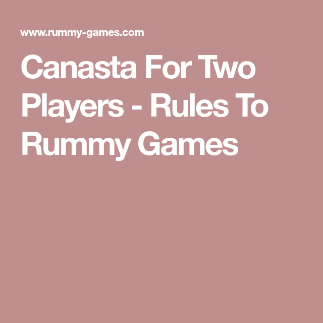Canasta Rules 3 Players