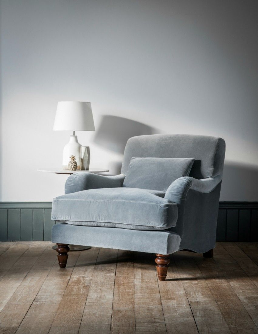 Velvet armchair from rose grey stylish living rooms in - Upholstered benches for living room ...