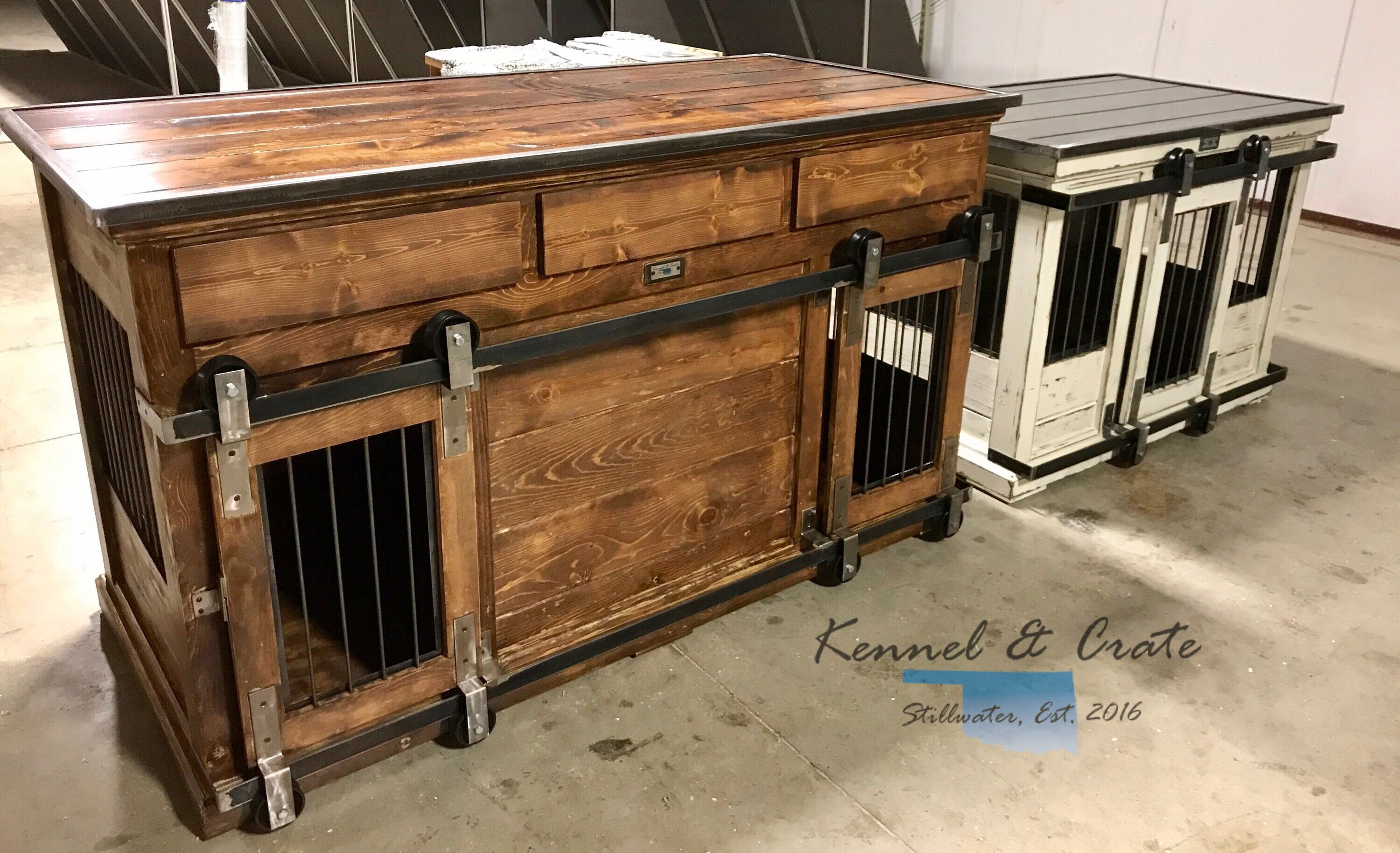 Custom Indoor Dog Kennels Design The Perfect Space For Your Dogs Doubles All Have An Interior Divider To Allow Separa Indoor Dog Kennel Indoor Dog Dog Kennel