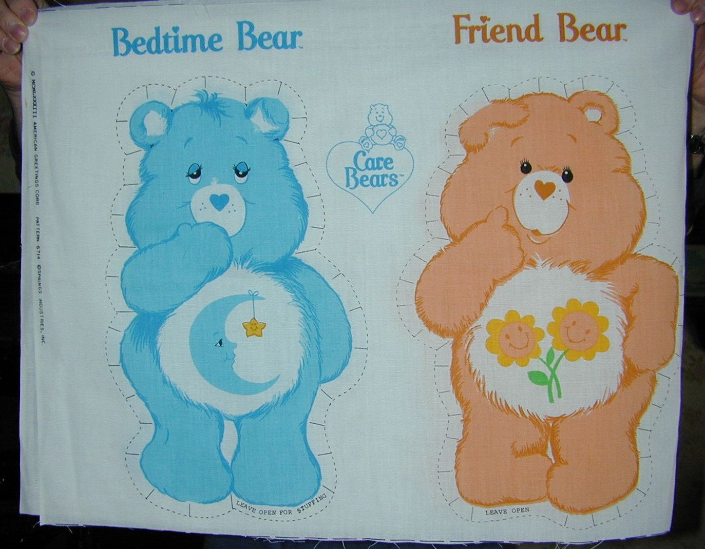 Care Bear Fabric Panels To Sew 8 Different Bears New