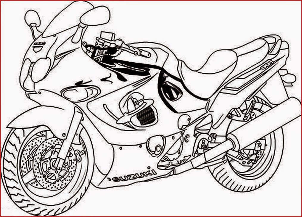 santa on a motorcycle coloring page images