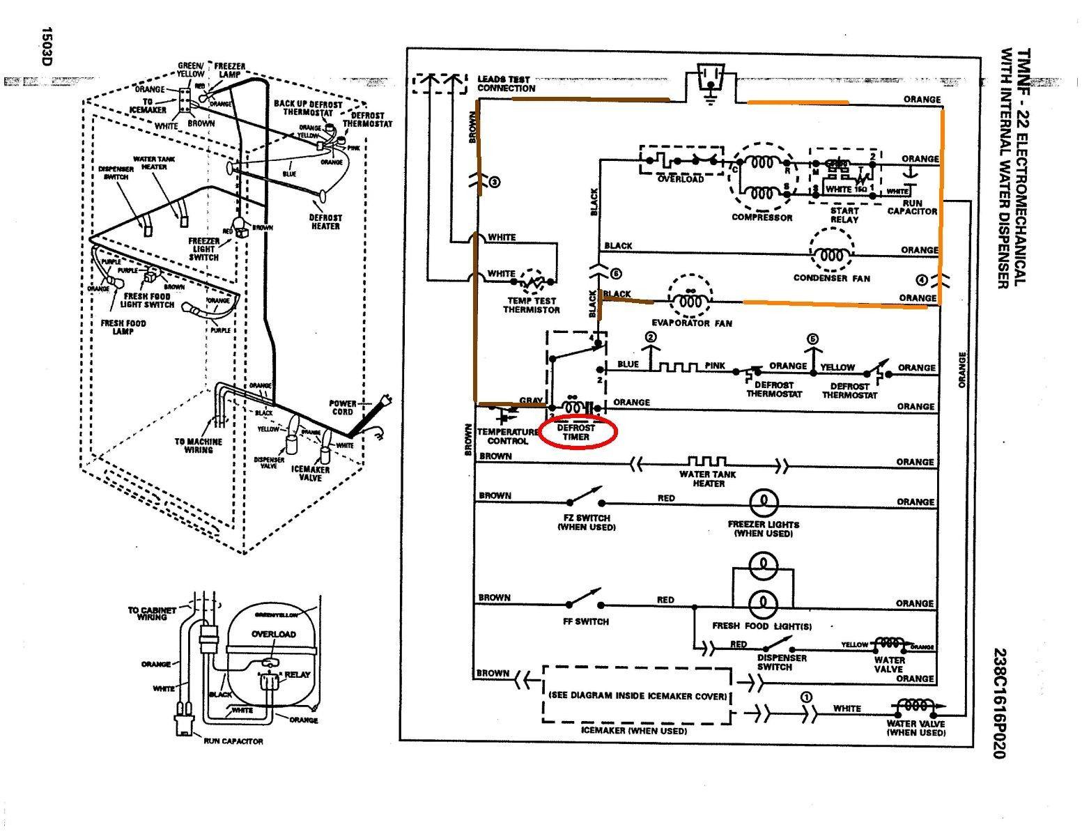 Ge Refrigerator Wiring Diagram In