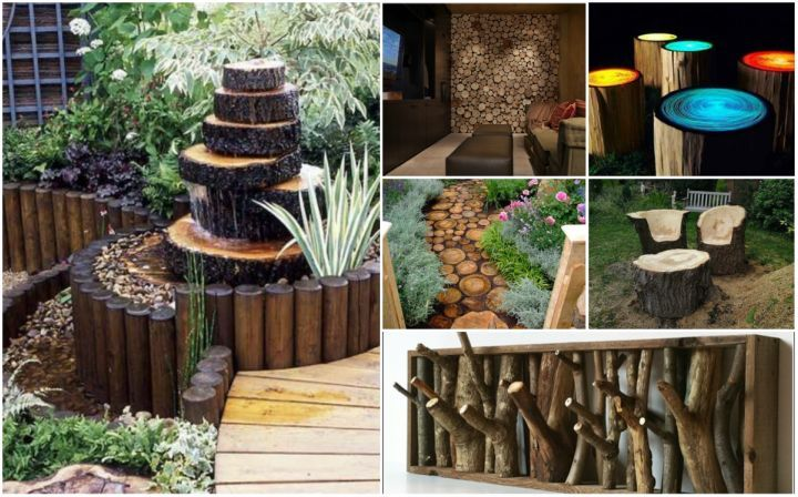 20 Diy Rustic Log Decorating Ideas For Home And Garden Rustic