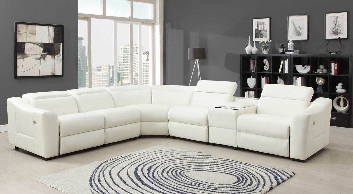 6 Pc Instrumental Collection White Bonded Leather