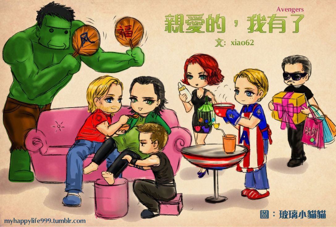this is a fanart from a happy fanfic, which about Loki is