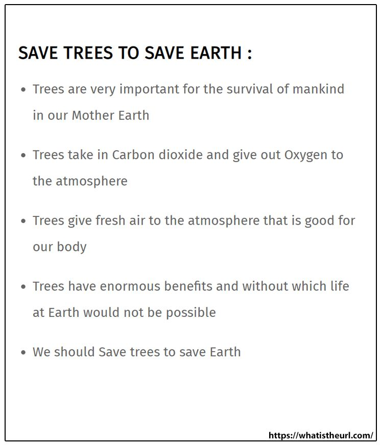 Save Tree To Earth Essay Short On Carbon