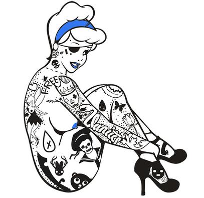 tattooed cinderella | Tumblr (With images) | Punk disney ...